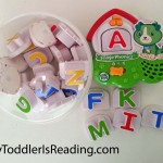 Leapfrog Fridge Phonics to teach kids letter names, letter sounds and the ABC song.