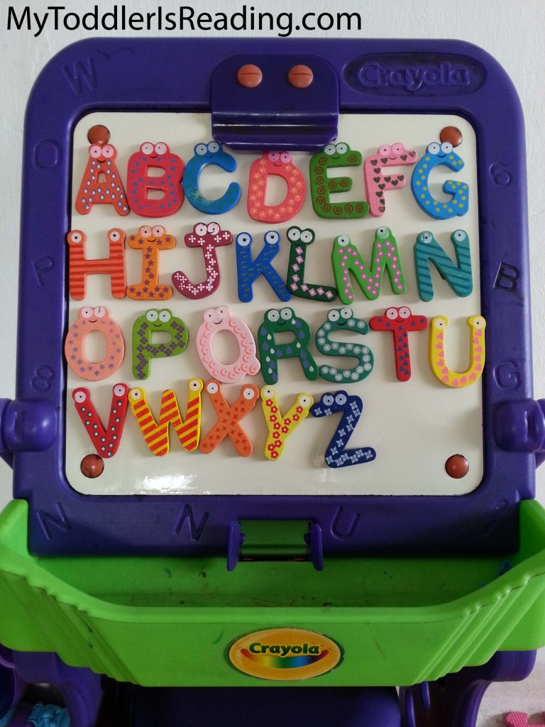 Wooden magnetic letters - colorful and fun for any toddler