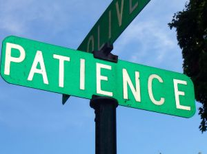 Patience signboard