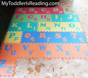 ABC floor foam puzzle