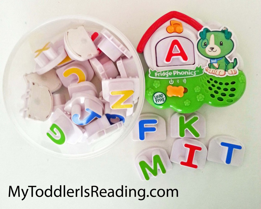 Kaden's set of magnetic Leapfrog Fridge Phonics