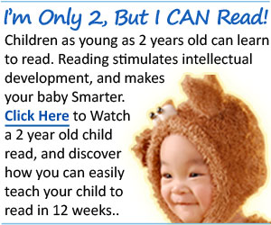 Children Learning Reading program with a 2-year-old toddler boy.