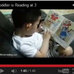 Short video clip of Kaden - toddler is reading at 3 years old.