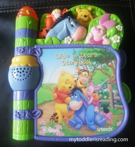 VTech Slide 'N Learn Storybook featuring Winnie the Pooh and Friends.