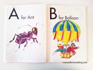 Examples of letter a and letter b of an alphabet book.