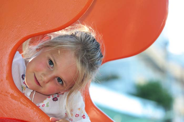 little-girl-on-slide