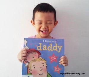 Kaden's first library book.