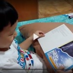 Short video of my 4-year-old boy reading a short book.