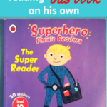 "My 5-year-old son reading ""The Super Reader"" book - Video"