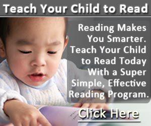 Children Learning Reading Program Side Banner